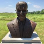 Bust of Scientist George Washington Carver located in Diamond Missouri at the George Washington Carver National Monument