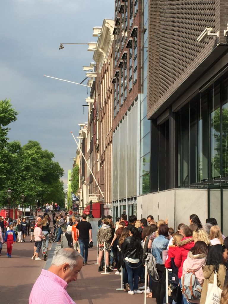 The lines at the Anne Frank House are long. Plan ahead and get tickets in advance
