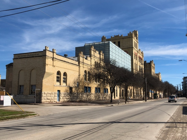 The San Antonio Museum of Art was once the Original Lone Star Brewery Headquarters