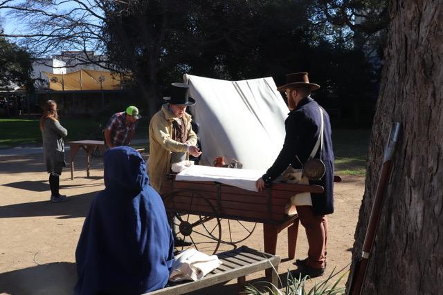 Living History Encampment at the Alamo in San Antonio Texas
